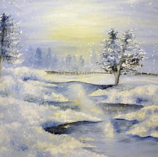 """Quiet Sound of Winter"" | 24X30 in. | Oil on Canvas"