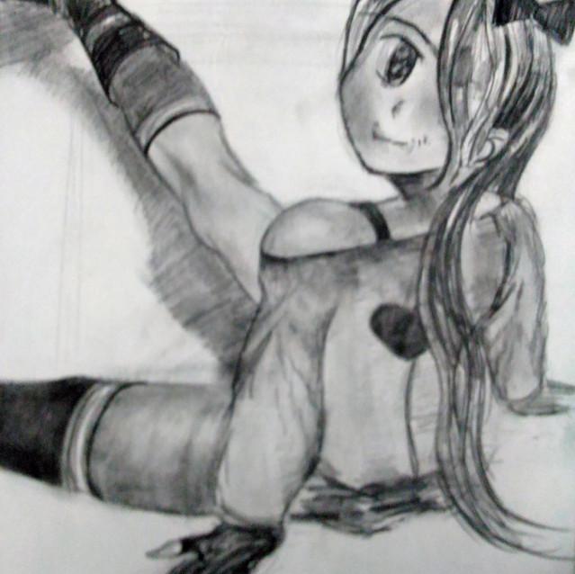 """""""Anime Girl Sketch"""" 8.5x11 in."""