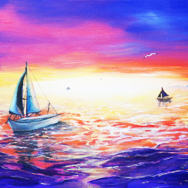 """""""At Peace Again""""   15X30 in.   Oil on Canvas"""