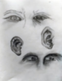 Ear Eye Study Drawing
