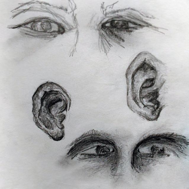 """""""Face Studies"""" 8.5x11 in."""