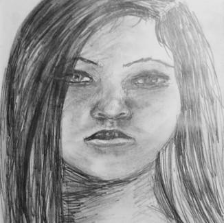 """Self Portrait Sketchbook Drawing"" 8.5x11 in."