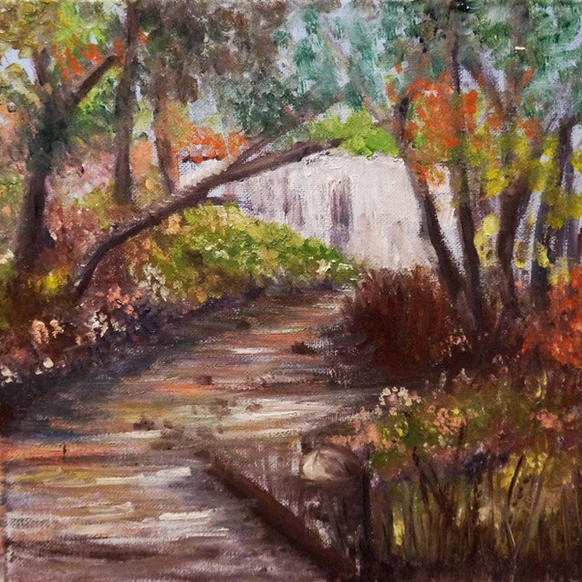 """Hidden Beauty""   10X10 in.   Oil on Canvas"