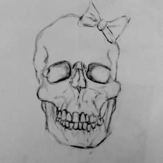 """Skull Head Drawing"" 8.5x11 in."
