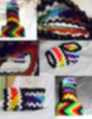 Rasta Ethnic Kandi Cuff Bracelet