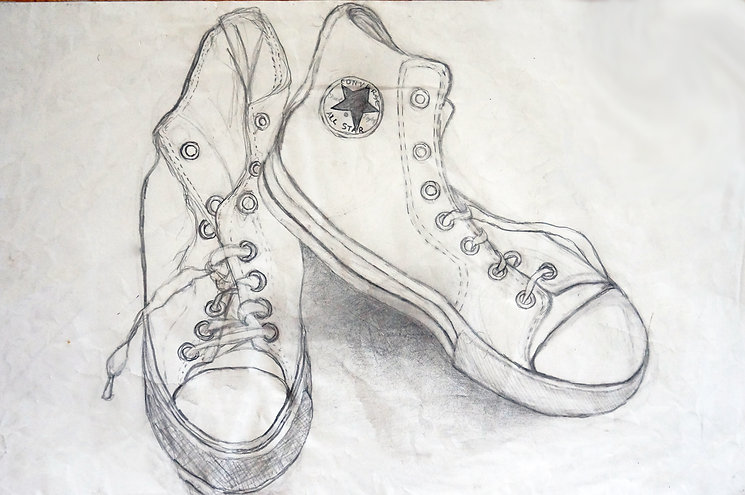 drawing, custom dawing, chuck taylor shoes