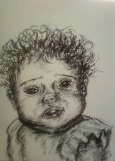 """""""Drawing of Baby"""" 8.5x11 in."""
