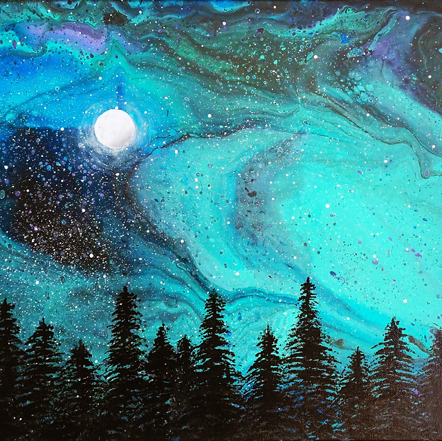 """""""Northern Lights""""   16x20 in.   Acrylic on Canvas"""