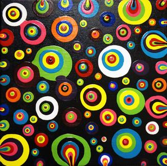 """Boho Vibes"" | 12X12 in. | Acrylic on Canvas"