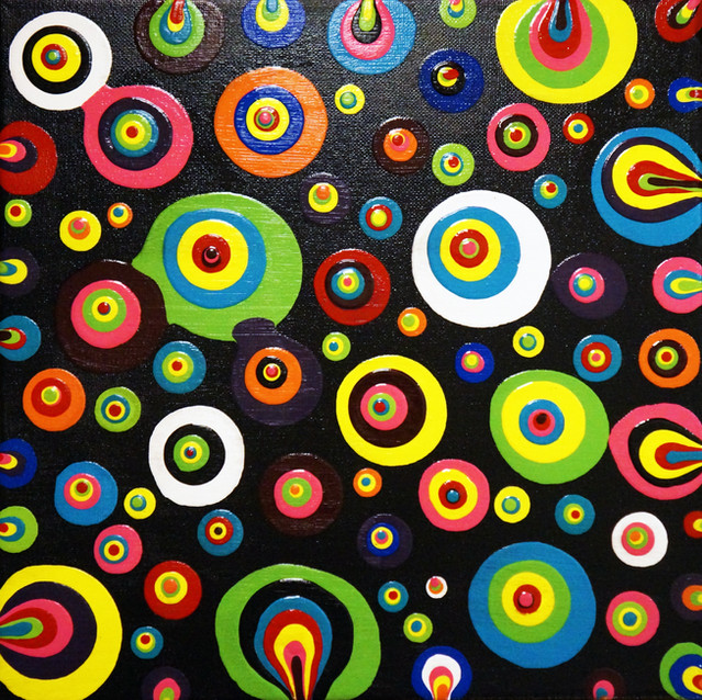 """Boho Vibes""   12X12 in.   Acrylic on Canvas"