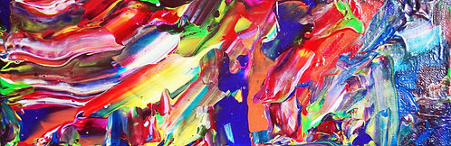 etsy layered abstract handmade colorful acrylic canvas painting
