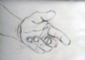 Hand Study Drawing