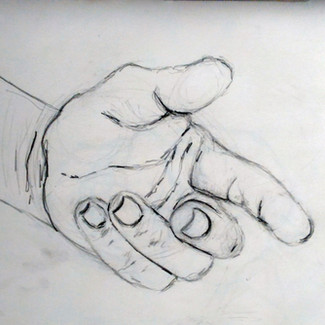 """""""Hand Study"""" 8.5x11 in."""