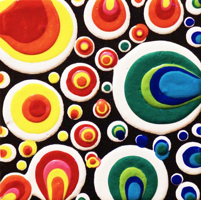 """""""Mini Rainbow Blobs""""   4X4 in.   Acrylic on Canvas"""