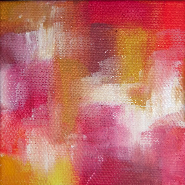 """""""Simple and Sweet""""   4x4 in.   Oil on Canvas"""