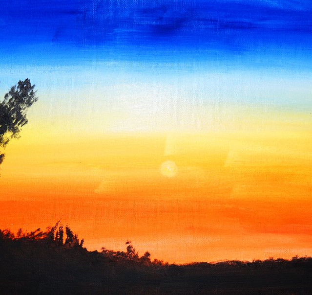 """""""The Day is Over""""   10X20 in.   Oil on Canvas"""