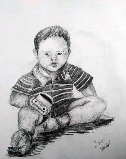 Little Boy Portrait Drawing