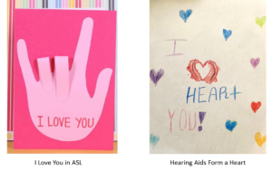 Valentine's Day card ideas for people with hearing loss