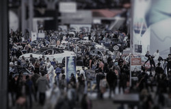 crowds of people at the show-tiltshift