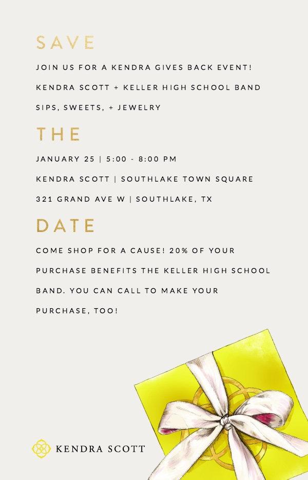 Keller HS Band Kendra Scott Invitation (