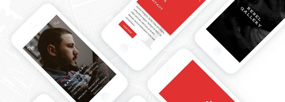 Rebel Gallery Website Design
