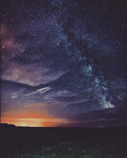 Stars above the farm