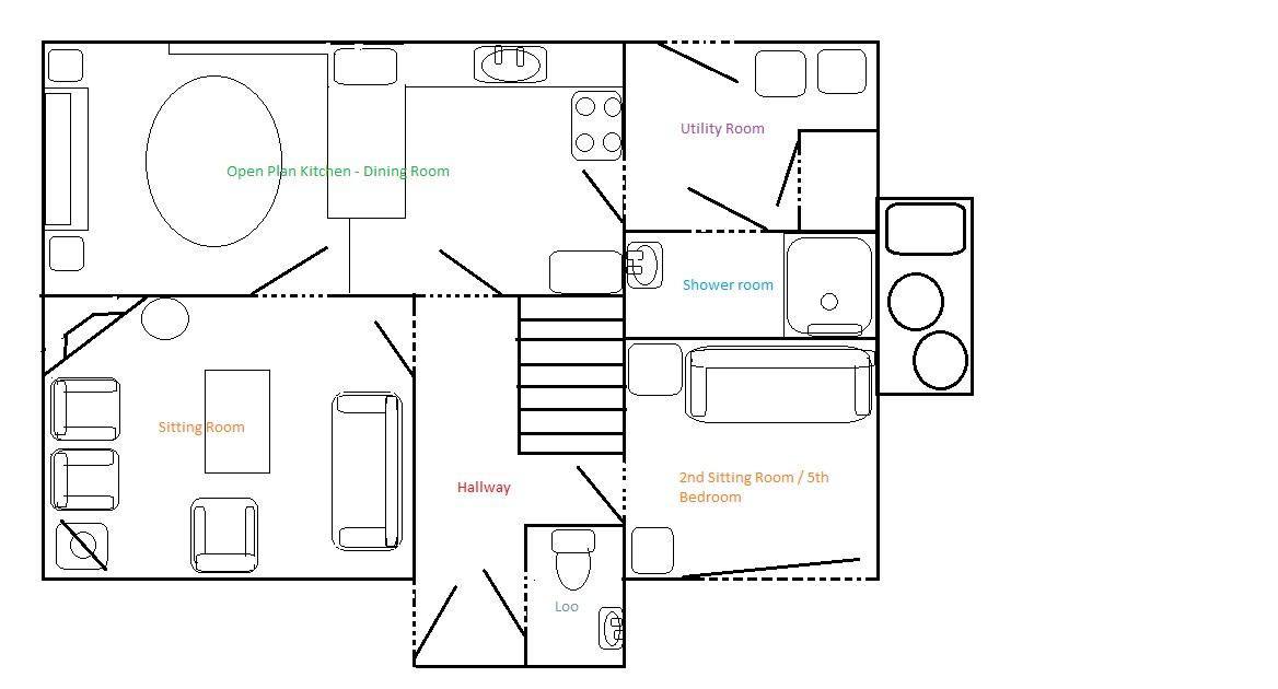 Cottage ground floor plan