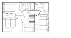Cottage first floor plan