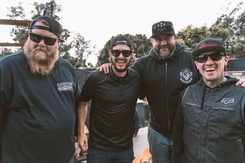 Celebrating wrapping principal photography for Bikers, Baggers & BBQs.