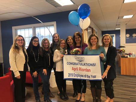 Darien Chamber honors April Riordan as 2019 Employee of the year!