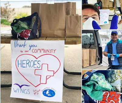 Wings gets to work supporting their community.