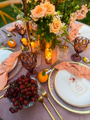 Wings Party Styling_Bohemian Tablescape.