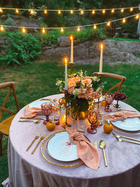 Wings Party Styling_Bohemian Full Tables