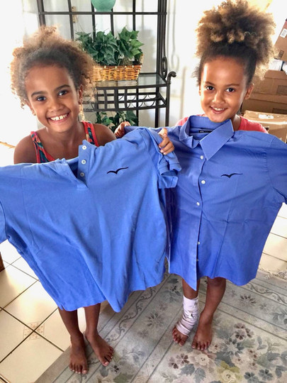 Wings donates uniforms and children's clothing for those effected in Bahamas by Hurricane Dorian