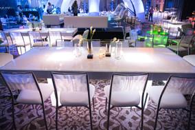 Clear Table Decor