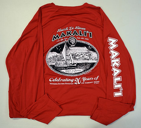 20th Anniversary Red Long Sleeve -Stretch
