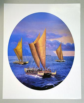 Poster of Hawai'i Loa, Hokule'a, & Makali'i