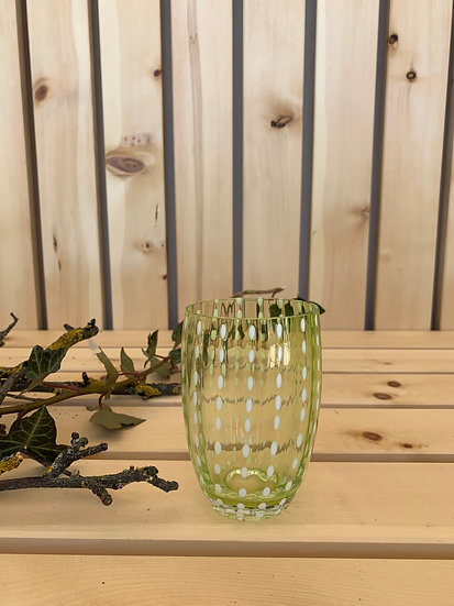 Zafferano Glas Apfelgrün
