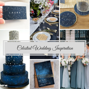 Celestial Wedding Inspiration mood board designed by Beauty & the Budget Events