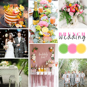 Brunch wedding mood board designed by Beauty & the Budget Events