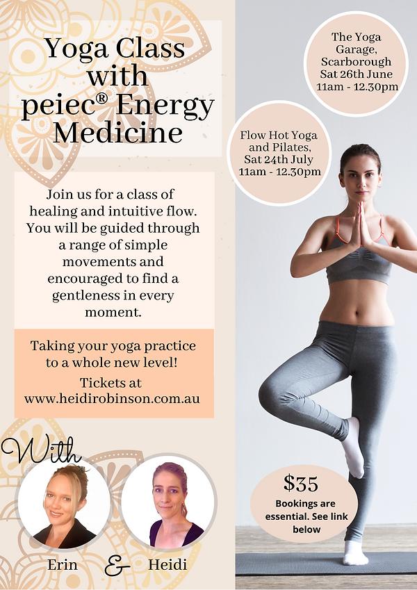 Flyer, Event Yoga PEIEC Erin and Heidi.p