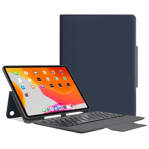 iPad Pro 11 inch Bluetooth Keyboard Leather Case with Pen Slot & Holder