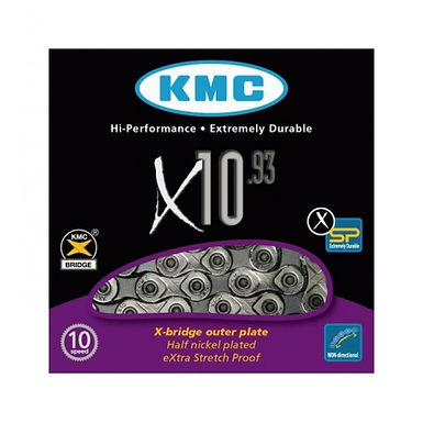 Řetěz KMC X10.9, stříbrný, 114 článků