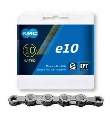 Řetěz KMC E10, stříbrný, 122 článků