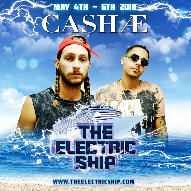 Cash Ae on the electric ship the edm cruise