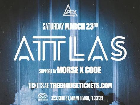 MorseXCode supports  Mau5trap artist ATTLAS!