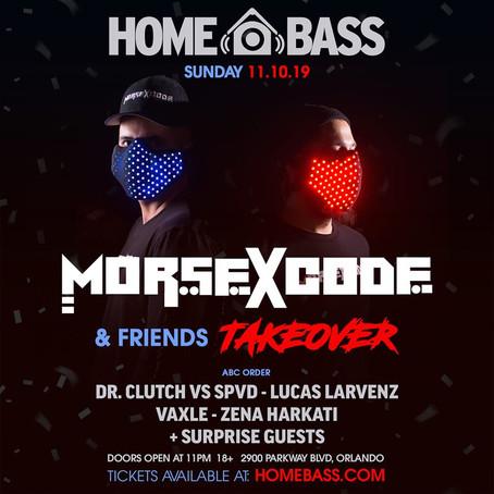 Morse X Code & Friends take over Home Bass EDC WEEKEND!
