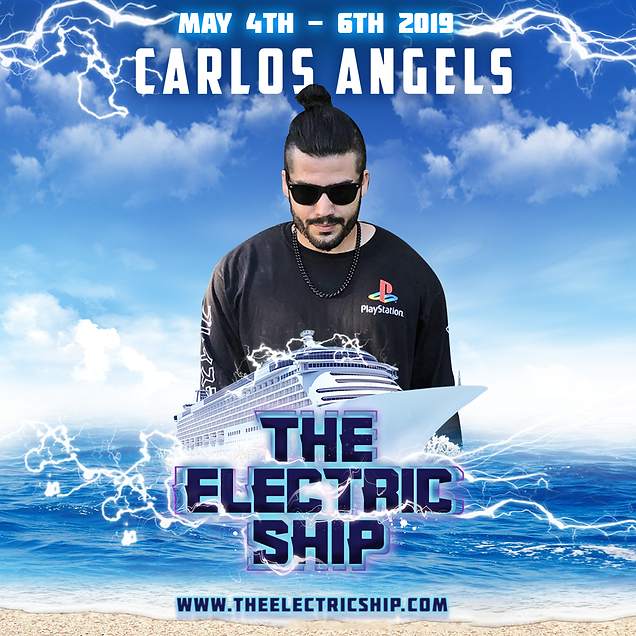 Carlos Angels on the edm cruise the electric ship