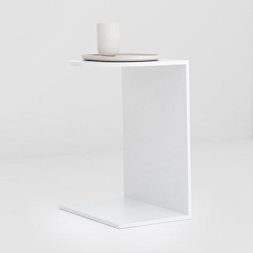Eva Steel Side table White