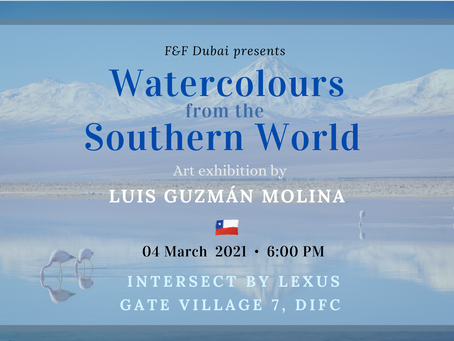 Chilean artist Luis Guzmán Molina for the first time in UAE